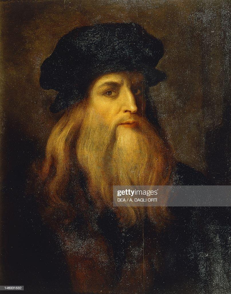 Florence, Galleria Degli Uffizi (Uffizi Gallery) Presumed Self Portrait By  Leonardo Da  What Is Presumed