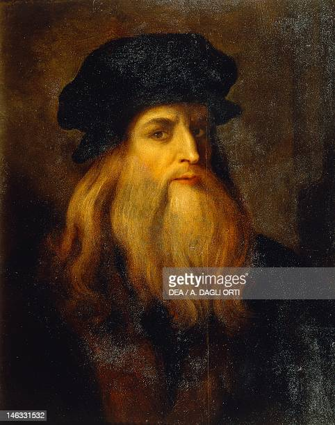 Florence Galleria Degli Uffizi Presumed selfportrait by Leonardo da Vinci an Unknown Artist