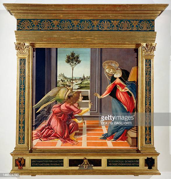 Florence Galleria Degli Uffizi The Annunciation 14891490 by Sandro Botticelli tempera on wood 150x156 cm