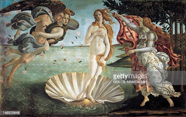 Florence Galleria Degli Uffizi The Birth of Venus by Sandro Botticelli tempera on canvas 1725x2785 cm