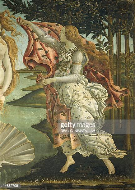 Florence Galleria Degli Uffizi The Birth of Venus by Sandro Botticelli tempera on canvas 1725x2785 cm Detail