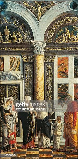 Florence Galleria Degli Uffizi The Circumcision panel of the Triptych in the Uffizi with the Ascension the Adoration of the Magi and the Circumcision...