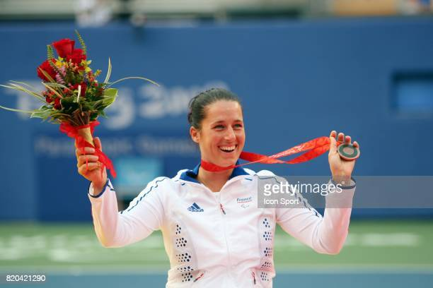 Florence GRAVALLIER Tennis finale pour la 3eme place du simple femme Jeux Paralympiques de Pekin 2008