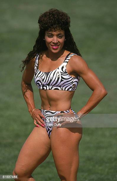 Florence Griffith Joyner poses for a portrait in 1989