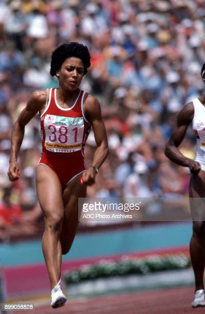 Florence Griffith Joyner Women's 200 Meter competition Memorial Coliseum at the 1984 Summer Olympics August 8 1984