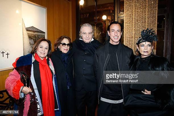 Florence Grindat Princess Marina de Grece Photographer Patrice Calmettes Fashion designer Rick Owens and his wife Michele Lamy attend his Exhibition...