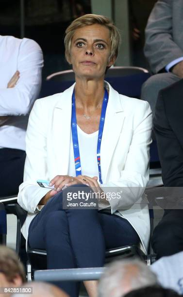 Florence Hardoin director of the French Football Federation attends the FIFA 2018 World Cup Qualifier between France and Luxembourg at the Stadium on...