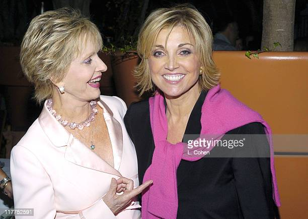 Florence Henderson and Carole Black president/CEO of Lifetime Television