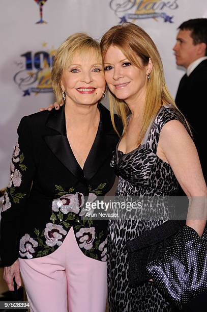 Florence Henderson and her daughter attend The 20th Annual Night Of 100 Stars Awards Gala at Beverly Hills Hotel on March 7 2010 in Beverly Hills...
