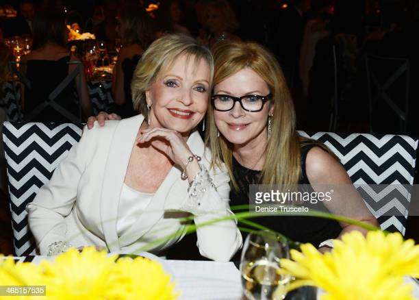Florence Henderson and her daughter Barbara attend Neveda Ballets Woman Of The Year Black and White Ball at Aria on January 25 2014 in Las Vegas...