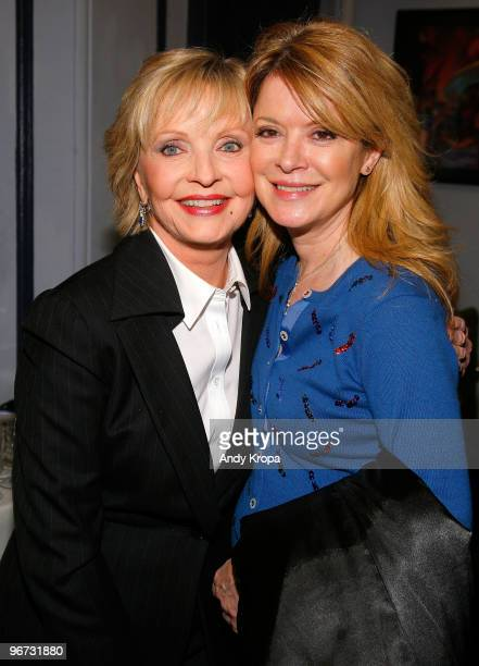 Florence Henderson and her daughter Barbara Chase attend Celebrity Autobiography In Their Own Words at The Triad Theater on February 15 2010 in New...