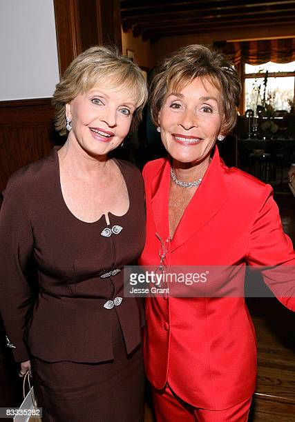 Florence Henderson and Judge Judy Sheindlin attend the wedding of Michael Feinstein and Terrence Flannery held at a private residence on October 17...