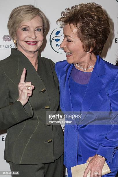 Florence Henderson and Judith Sheindlin attend the Women's Guild CedarsSinai's Annual Luncheon at Regent Beverly Wilshire Hotel on April 13 2015 in...
