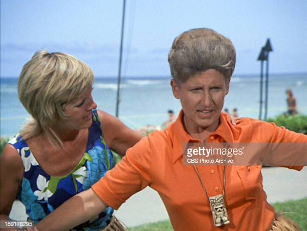 Florence Henderson as Carol Brady and Ann B Davis as Alice in THE BRADY BUNCH episode Hawaii Bound Original air date September 22 1972 Image is a...
