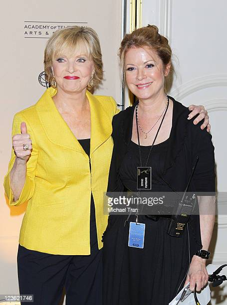 Florence Henderson with her daughter Barbara arrive at the 4th Annual Television Academy Honors held at Beverly Hills Hotel on May 5 2011 in Beverly...