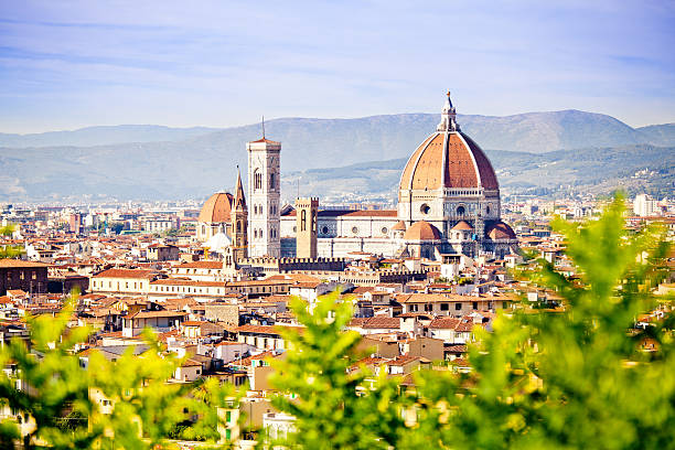 """""""Florence In Spring, Skyline With Santa Maria Del Fiore"""" Wall Art"""