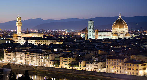 Florence In Sunset, Duomo, Palazzo Vecchio Wall Art