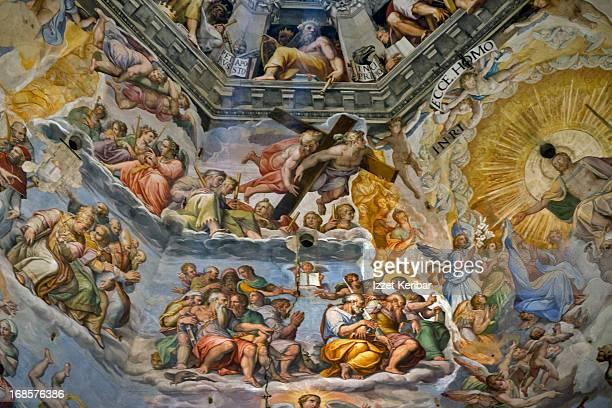 florence interior of duomo, santa maria dei fiori - ルネッサンス様式 ストックフォトと画像