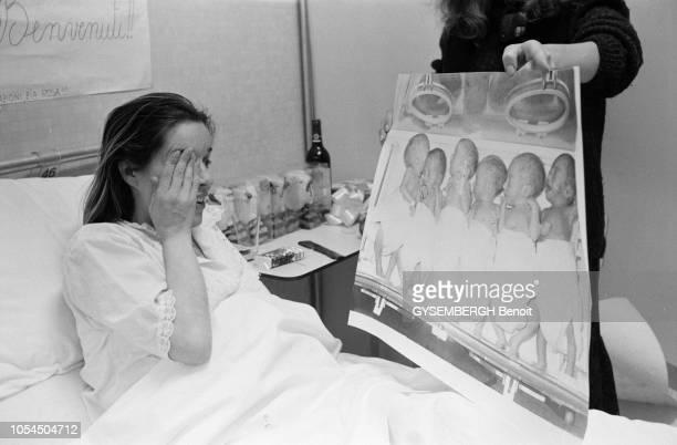 Florence Italie janvier 1980 Le 11 janvier Rosanna GIANNINI CAVIGLI a mis au monde des sextuplés à la Villa Medicea l'hôpital de Careggi en...