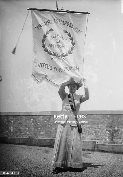 Florence Jaffray Daisy Harriman with banner
