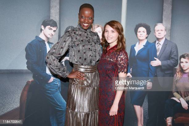 """Florence Kasumba and Janina Fautz attends the premiere of the movie """"Der Preis der Freiheit"""" at Stasi Zentrale on October 31, 2019 in Berlin, Germany."""