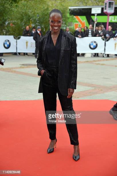 Florence Kasumba arrives at the German Film Award 2019 at Palais am Funkturm on May 3 2019 in Berlin Germany