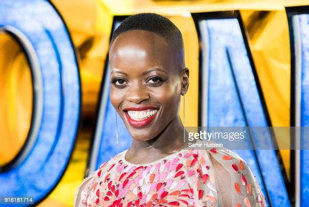 Florence Kasumba attends the European Premiere of 'Black Panther' at Eventim Apollo on February 8 2018 in London England