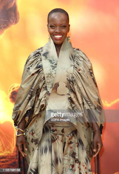 Florence Kasumba attends the European Premiere of Disney's The Lion King at the Odeon Luxe cinema Leicester Square in London