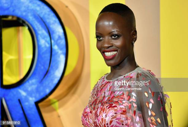 Florence Kasumba attends the European Premiere of Marvel Studios' Black Panther at the Eventim Apollo Hammersmith on February 8 2018 in London England