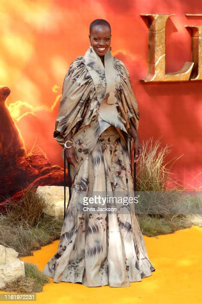 Florence Kasumba attends The Lion King European Premiere at Leicester Square on July 14 2019 in London England