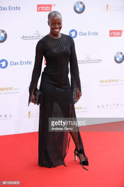 Florence Kasumba attends the Lola German Film Award red carpet at Messe Berlin on April 27 2018 in Berlin Germany