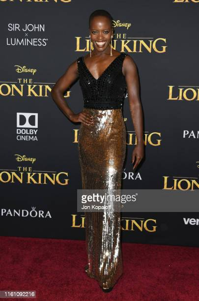 Florence Kasumba attends the Premiere Of Disney's The Lion King at Dolby Theatre on July 09 2019 in Hollywood California