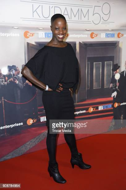 Florence Kasumba during the premiere of 'Ku'damm 59' at Cinema Paris on March 7 2018 in Berlin Germany