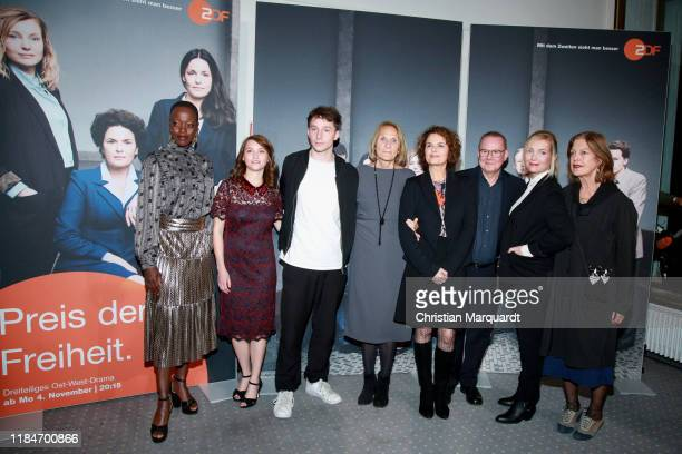 Florence Kasumba Janina Fautz Jonathan BerlinGabriele Sperl Barbara Auer Joachim Kroel Nadja Uhl and Angela Winkler attend the premiere of the movie...