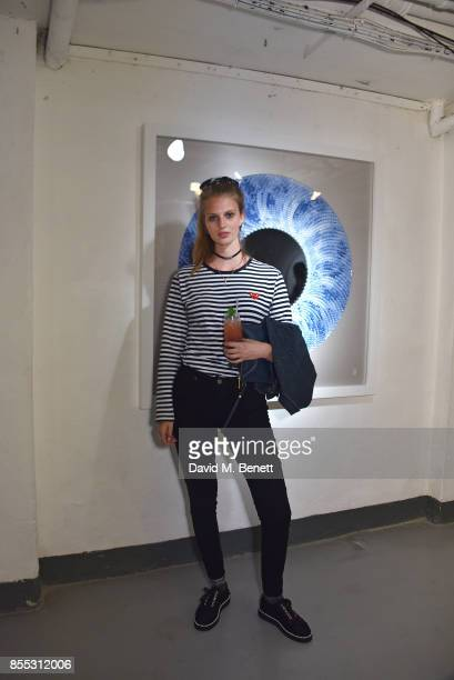 Florence Kosky attends a private view of artist Chemical X's new exhibition 'CX300' at The Vinyl Factory on September 28 2017 in London England