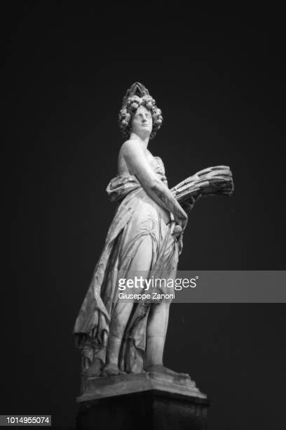 florence loggia of lanzi and signoria square - michelangelo's david stock pictures, royalty-free photos & images