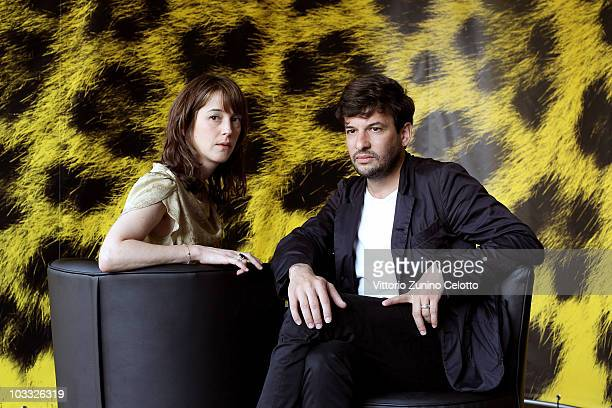Florence Loiret Caille and Eric Caravaca attend La Petite Chambre photocall during the 63rd Locarno Film Festival on August 9 2010 in Locarno...