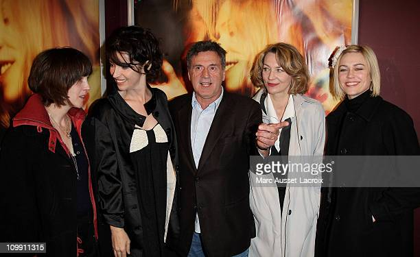 Florence Loiret Caille and Zabou Breitman and Daniel Auteuil and Christiane Millet and MarieJosee Croze attends Je l'aimais Paris Premiere on April...