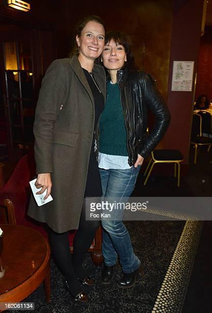 Florence Migraine Bourgnon and Julie Debazac attend the 18 eme Edition des Journees du Livre et Du Vin 2013' - Jury Lunch at the Hotel Lutetia on...