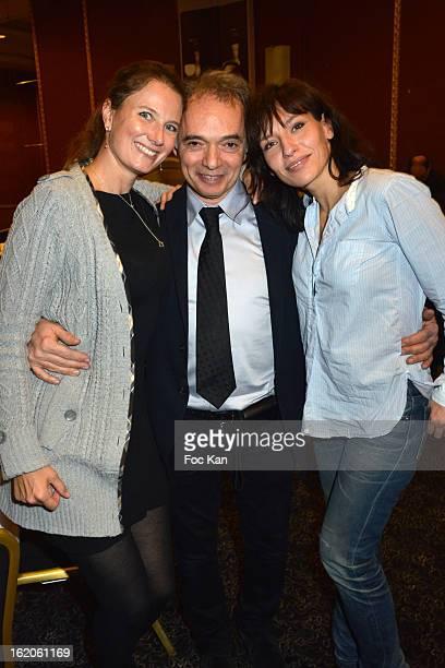 Florence Migraine Bourgnon, Jean Maurice Belayche and Julie Debazac attend the 18 eme Edition des Journees du Livre et Du Vin 2013' - Jury Lunch at...