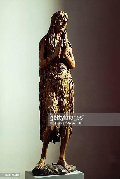 Florence Museo Dell'Opera Di Santa Maria Del Fiore Penitent Magdalene 14531455 by Donatello wooden statue