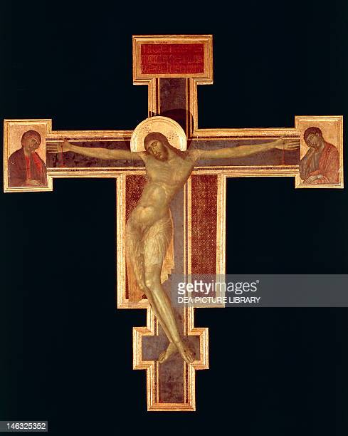 Florence Museo Dell'Opera Di Santa Maria Del Fiore Santa Croce Crucifix ca 1280 by Cenni di Pepo known as Cimabue tempera on wood 448x390 cm Basilica...