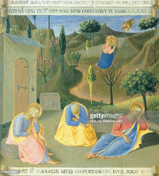 Jesus Praying In The Garden Of Gethsemane Stock Photos and Pictures ...