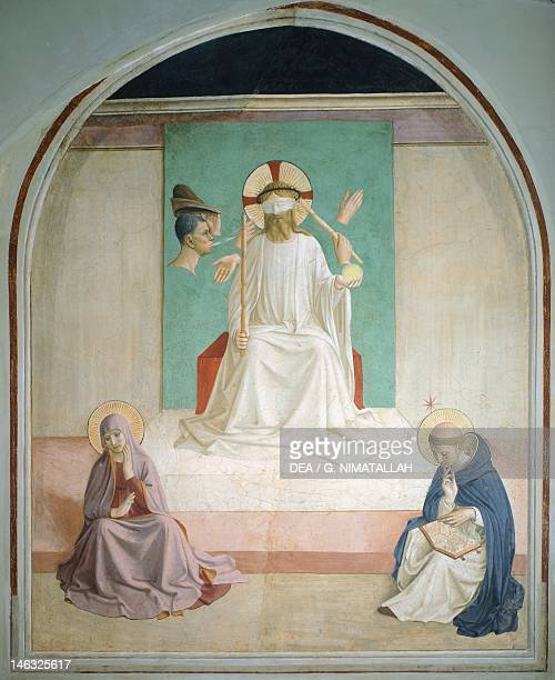 Florence Museo Di San Marco The Mocking of Christ ca 1440 by Giovanni da Fiesole known as Fra Angelico fresco 195x159 cm Convent of San Marco Florence