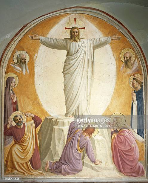 Florence Museo Di San Marco Transfiguration by Giovanni da Fiesole known as Fra Angelico fresco Sixth cell St Mark's Convent Florence