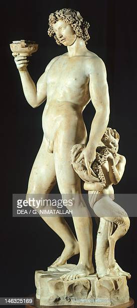 Florence Museo Nazionale Del Bargello Bacchus 14961497 by Michelangelo marble statue