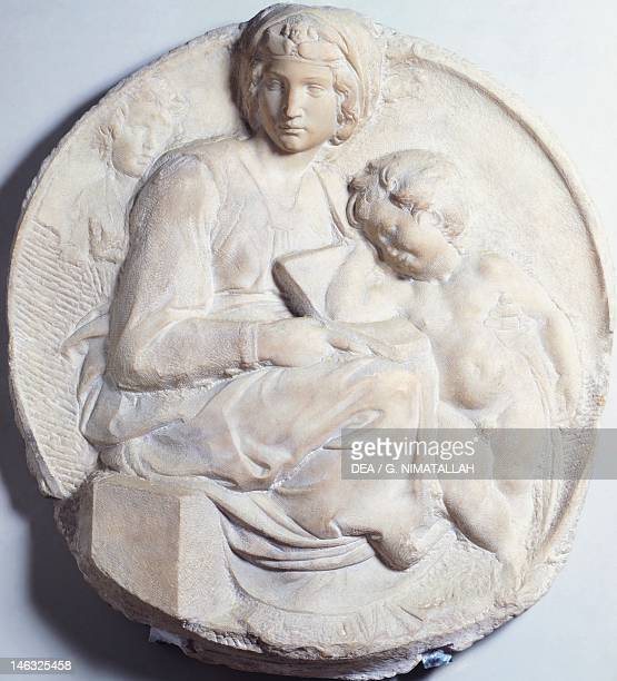 Florence Museo Nazionale Del Bargello Madonna 15031504 by Michelangelo marble basrelief