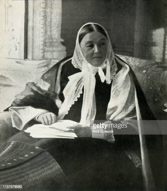 Florence Nightingale, circa 1900, . Portrait of Florence Nightingale , British social reformer and statistician who made her reputation by her...