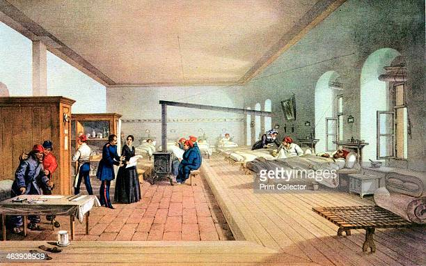 Florence Nightingale , English nursing pioneer and hospital reformer. Florence Nightingale inspecting the wards of the military hospital at Scutari...