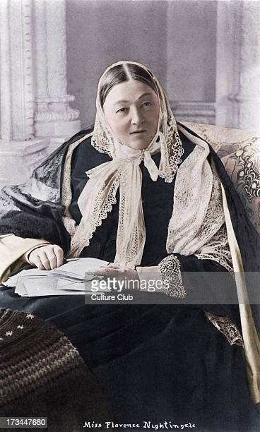 Florence Nightingale Pioneer of modern nursing a writer and a noted statistician 12 May 1820 – 13 August 1910 Photograph shows her wearing a shawl...